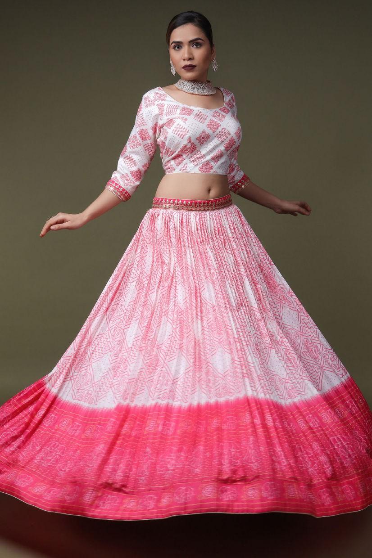 Cerise Pink Silk Lehenga Choli