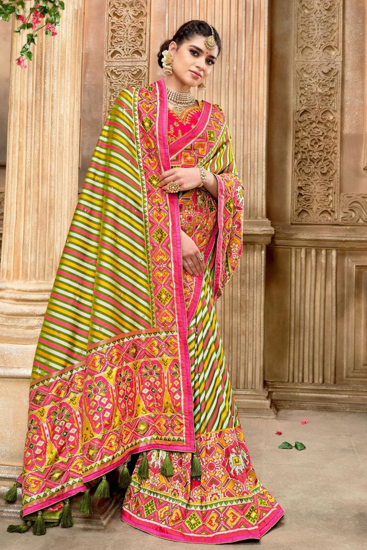 Multi Colored Patola Silk Saree